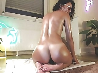 Riding cowgirl with tanlines webcam