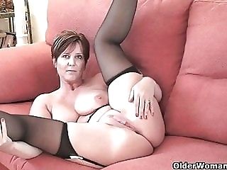 British milf Joy exposing her big tits and hot fanny amateur
