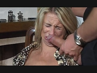 Hesitant MILF fucked in throat, pussy and ass blowjob