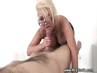 Cheating wife sucks forbidden cock and loves it big boobs