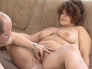 Busty mature BBW fucks a stud on Mature NL amateur
