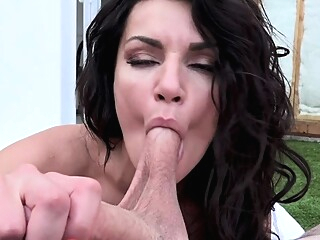 Milf Becky Bandini Blowjob And Cum On Tits Of Stranger big boobs