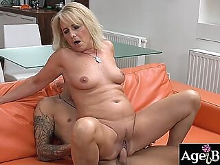 Granny Jana banged nice and good with a young massive dick ass