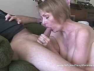 A granny is hornier than ever and wants to taste that stiff young willy amateur