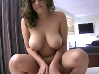 Fat girlfriend riding on a cock point of view