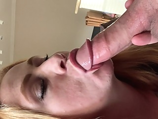 Slurping and Gagging on Daddys Dick amateur