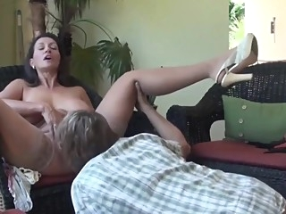 Lucky guy having fun with sexy mature busty milf amateur