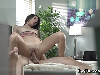 Natalia Nix in Stepsister Walks In On Stepbro Jerkin It - SpyFam brunette