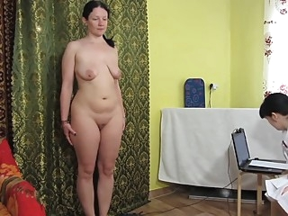 Russian girls play a medical examination amateur