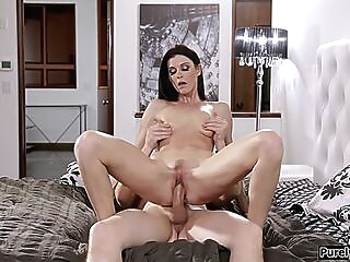 Small tits stepmom facesits and sucking her stepson big cock big cock