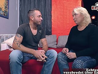 german chubby mature mom seduced younger guy amateur