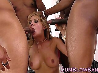Mature whore blow banged big tits